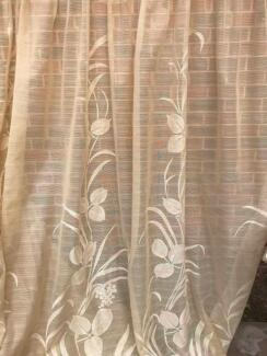 Curtains Fabric Sheer Retro 1970s