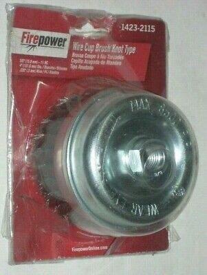 Victor Firepower 1423-2115 Knot Wire Cup Brush 4 X 58-11 For Grinder .020 Thick
