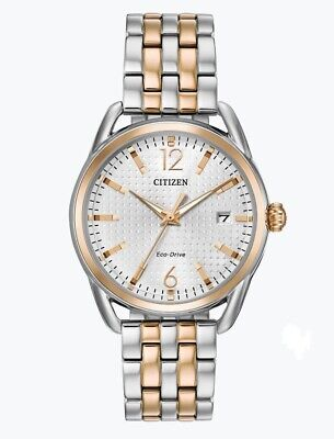 Date Display (Citizen Eco-Drive Women's FE6086-74A Date Display Two-Tone Bracelet 36mm Watch )