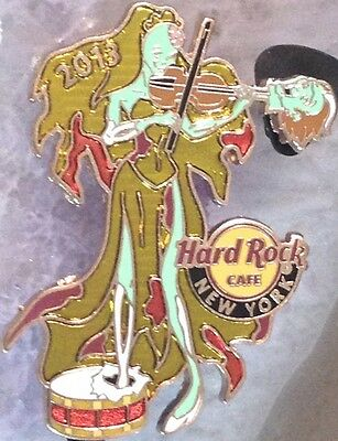 N Y Halloween Parade (Hard Rock Cafe NEW YORK 2013 HALLOWEEN PARADE PIN Zombie Ghoul Violin HRC)