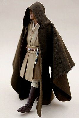 MY-R-MW: FIGLot 1/12 Jedi Fabric Cloak Robe for SHF, Hasbro Star Wars Mace Windu