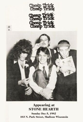Cheap Trick 18 x 26 1982 Stone Hearth Madison Wisconsin Reproduction Poster