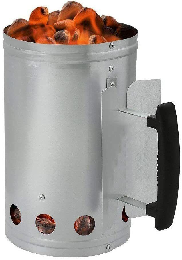 Berndes XL Anzündkamin Kohle Grillstarter Kohlestarter Grillanzünder Holzkohle