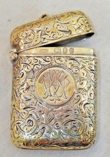 Antique Barr, Moering & Co Sterling Silver Match Safe or Vesta Case
