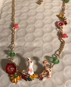 Les Nereides necklace Very Pretty Rabbit Flowers And Toadstools