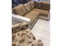 Corner sofa bed with storage & one Armchair