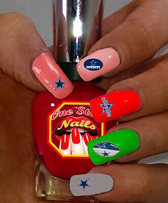 Dallas Cowboys Fans! Vinyl Peel and Stick Nail Decals . WS-DC01-35](Dallas Cowboys Nail Stickers)