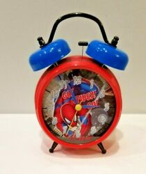 Marvel Spiderman Quartz Accuracy Twin Bell Alarm Clock red/blue