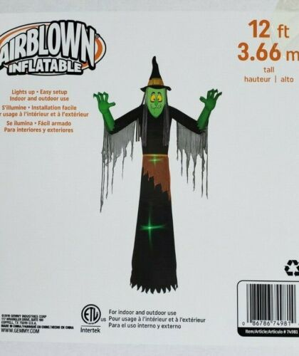 Gemmy 12ft Short Circuit Witch Inflatable