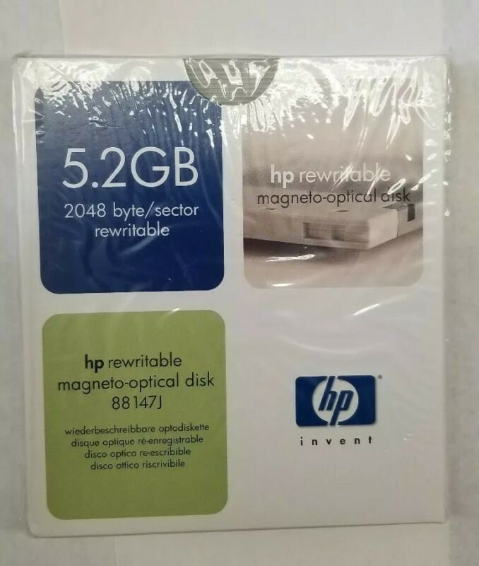 H.P. Hewlett Packard 5.2Gb Rewritable Optical Disk 88147J - New & Sealed