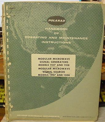 Polarad Model 1107 1106 1207 1208 Microwave Signal Generator Manual L 3-1 Up