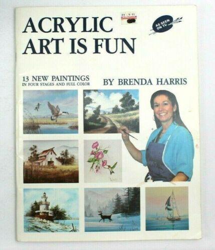 Vintage Acrylic Art is Fun 2 Instructional Book  Brenda Harris 1989 13 Paintings
