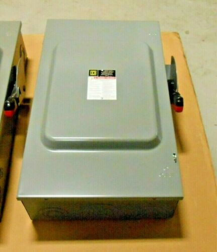 1 NEW SQUARE D HU364 200 AMP 600V 3P HEAVY DUTY SAFETY SWITCH 200A NEMA 1 INDOOR