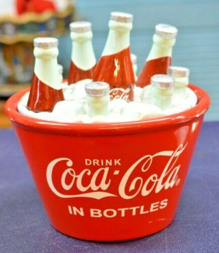 """Coca Cola Bottles Ice Bucket Cookie Jar 10"""""""