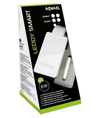Aquael LEDDY Smart weiss 6W LED Beleuchtung Aquarium Nano Shrimp Sunny 6500K Nano Led