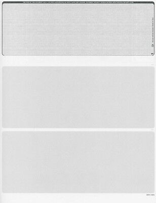 Blank Check Stock - 500 Blank Security Check Paper Stock - Checks on Top (Linen Grey)