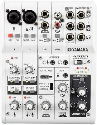 YAMAHA 6Channel Web Casting Mixer 2Channel USB Audio Interfa
