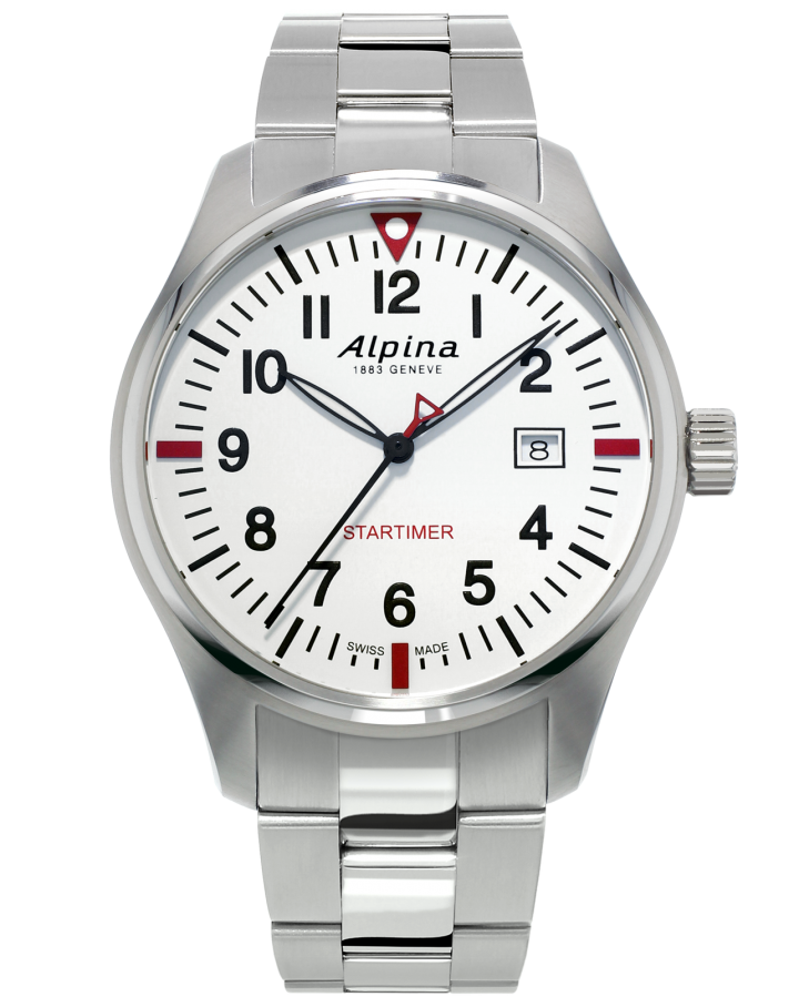 Alpina Startimer Men's AL-240S4S6B Quartz Silver-Tone Bracelet 42mm Watch