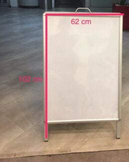 Double sided shop sign board portable in good condition