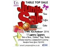 Jumble Table Top Sale