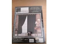brand new unopened fully lined faux silk curtains
