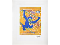 ANDY WARHOL - 'MONKEY' - HAND NUMBERED VINTAGE LITHOGRAPH - c1986 (CMOA official stamp)