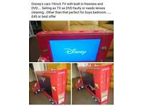 "Disney Cars 19"" TV DVD combo"