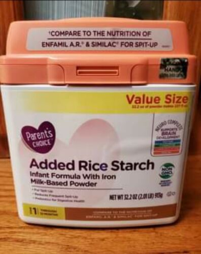 Infant Formula w/ Added Rice Starch (for Acid Reflux)