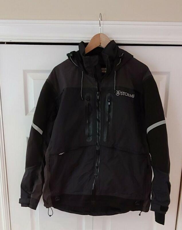 StormR StrykR Fishing Hunting Hooded Jacket w/VaporTech Black/Gray, Mens Sz L