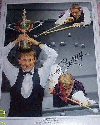 Stephen Hendry - Snooker Signed 16x12 Montage Photograph