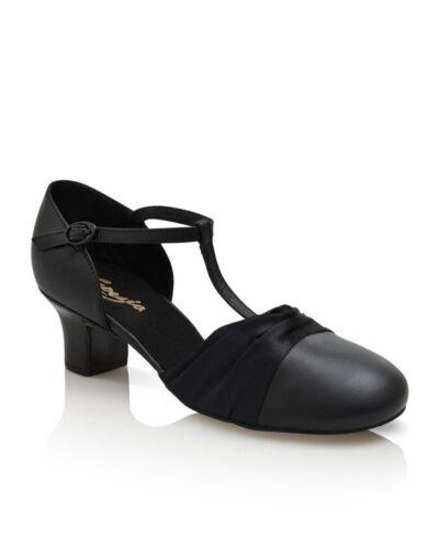"Capezio 1.5"" Heel Flex Character Shoe, dance or ballroom, Black, NEW, Style 562"