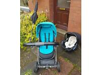 Babystyle oyster travel system pram buggy car seat