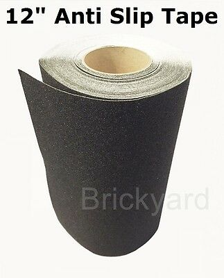 12 X 5 Black Roll Safety Non Skid Tape Anti Slip Tape Sticker Grip Safe Grit