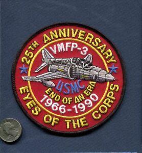 VMFP-3 EYES OF THE CORPS 1966-1990 F-4 PHANTOM USMC MARINE RECON Squadron Patch