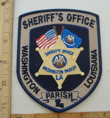 WASHINGTON    PARISH SHERIFF  LOUISIANA  FABRIC PATCH