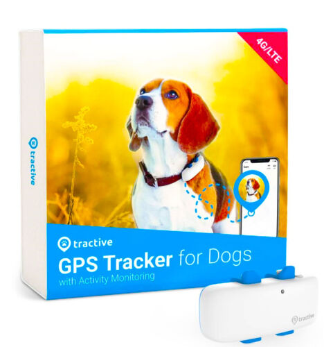 GPS Tracker for Dog LTE 4G Location Activity with Unlimited Range Tractive White