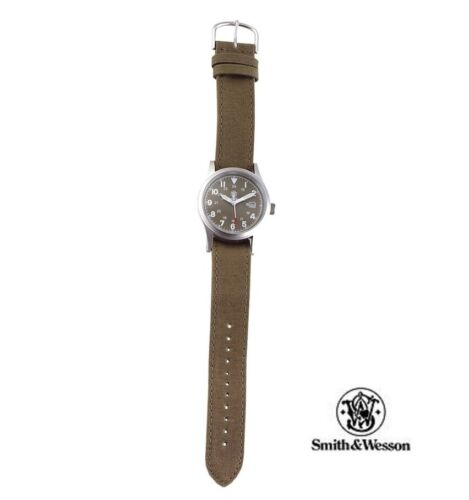 Smith & Wesson Military Watch luminous OD face water resistant extra bands