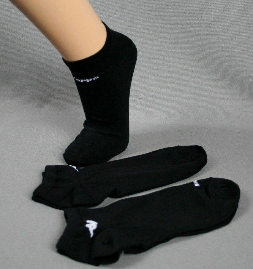 Kappa Sneaker Socken Strümpfe Freizeit Sport schwarz 3/6/9/12 Paar Gr. 39 - 46