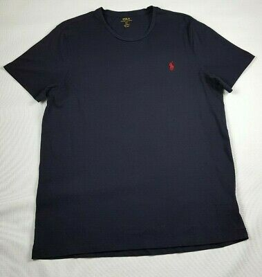 - Polo Ralph Lauren Logo Custom Fit Crew Neck Cotton T Shirt Sz. L