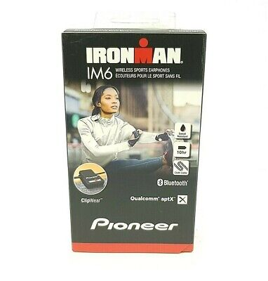 Pioneer Premium Performance Wireless Sports Earphones - Black (SE-IM6BT) [LN]™