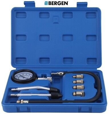 US PRO PETROL ENGINE COMPRESSION TESTER KIT / CYLINDER LEAKAGE TEST TOOL