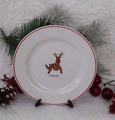 Ltd Commodities Prancer Single Plate Reindeer Salad Dessert Xmas Holiday