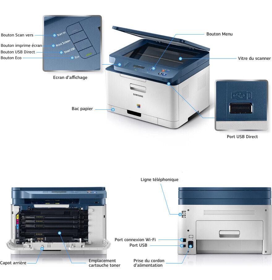 Imprimante laser samsung clx-3300 en tres bon etat