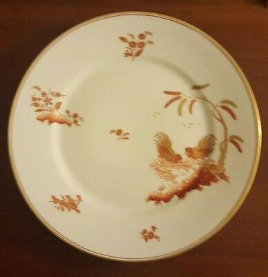 "Richard Ginori Siena Rust Chicken Rooster Gold Accent Dinner/Salad Plate 9-3/4"""