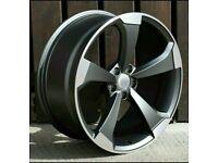 "x4 20"" RS3 2019 Style Alloy Wheels 9J Et35 Audi A4 A5 A6 A7 A8 Q5 SQ5 GM Polish"