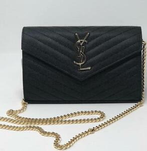 3dc4d284e7a YSL Clutch WOC Real Caviar Leather ( More Styles Available)