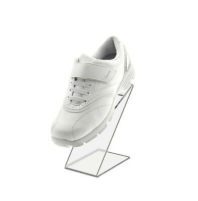 Black Slant Back Acrylic Shoe Riser 3w X 8h X 5 18d Retail Shoe Display