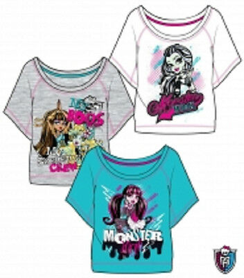 Monster High T-Shirt, Gr.128, 140, 152, 164, grau, weiß, blau (T-shirt Monster High)