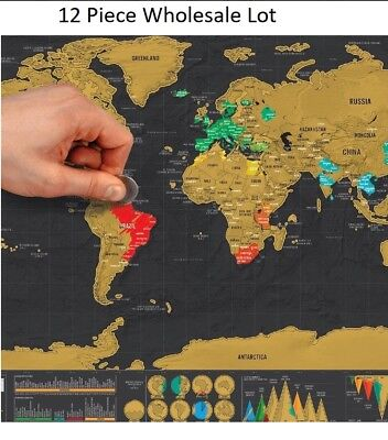 World Map Poster Wholesale Deluxe Scratch Off Personalized School Education Fun