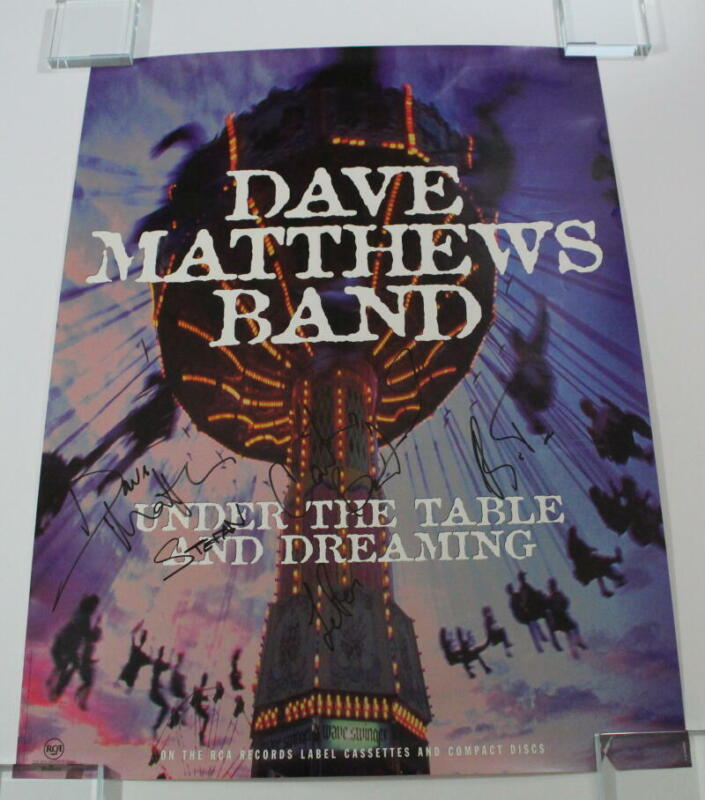 DAVE MATTHEWS BAND SIGNED AUTOGRAPH CONCERT POSTER VINTAGE SIGNATURES ALL 5 ACOA